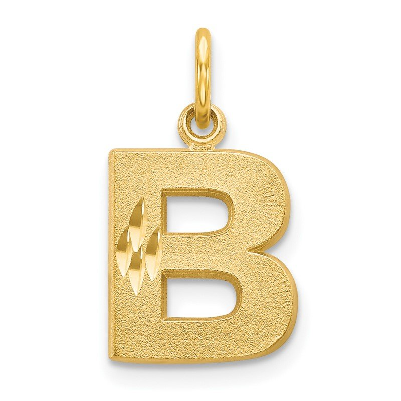 Quality Gold 14k Letter B Initial Charm