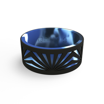 Men's Strata Black & Artic Camo Sunrise Silicone Ring