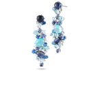 Roberto Coin Drop Earrrings With Topaz, Iolite, Sapphires And Diamonds