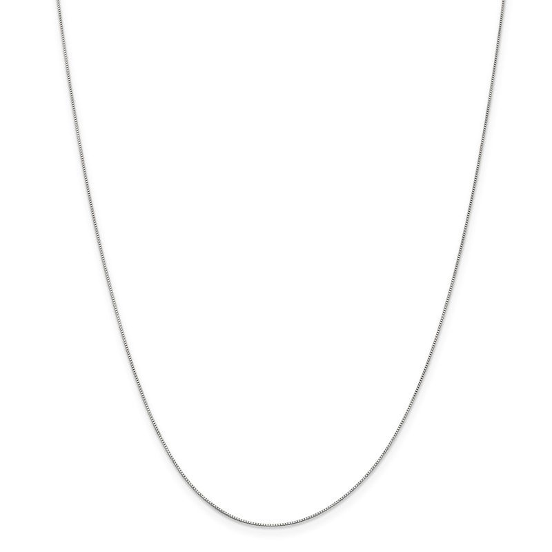 Leslie's 14K White Gold .5 mm Baby Box Chain
