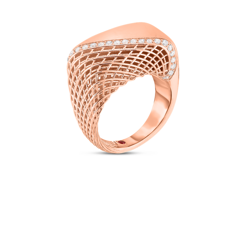 Roberto Coin  #28490 Of 18Kt Gold Ring With Diamonds