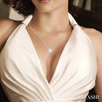 ASHI  lovebright diamond necklace