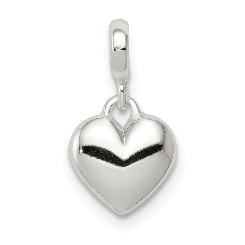 Quality Gold Sterling Silver Polished Heart Enhancer
