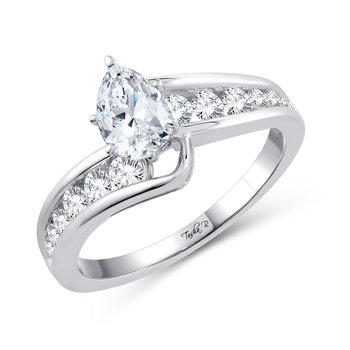 14K 0.50Ct Diam Semi Mount
