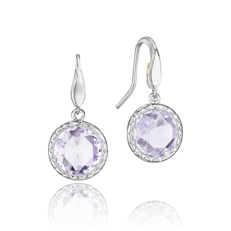 Tacori Fashion Simply Gem Drop Earrings featuring Rose Amethyst