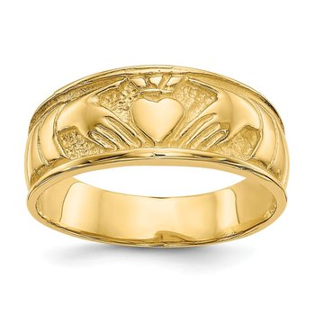 14k Ladies Claddagh Band