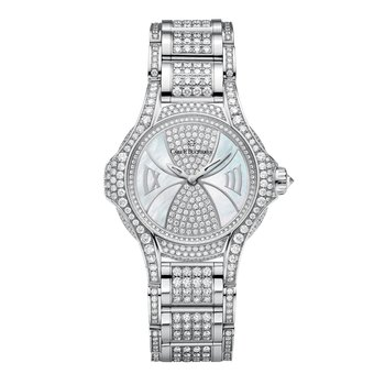 Pathos Diva 18KWG Diamond Mother of Pearl Womens Watch