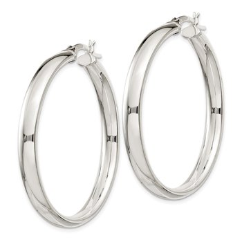 Sterling Silver 5x40mm Hoop Earrings