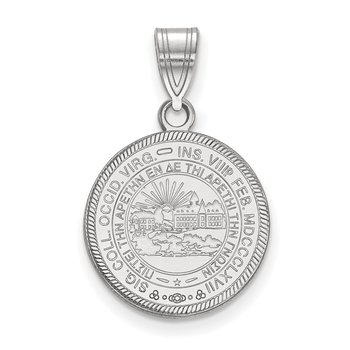 Sterling Silver West Virginia University NCAA Pendant