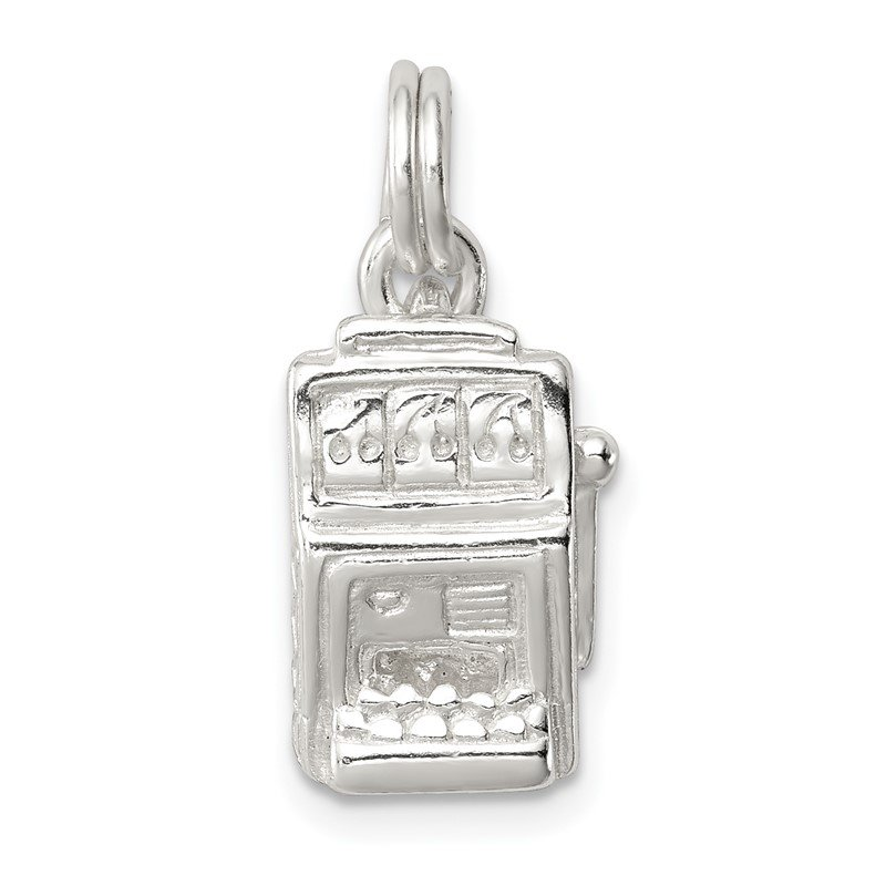 Quality Gold Sterling Silver Slot Machine Charm