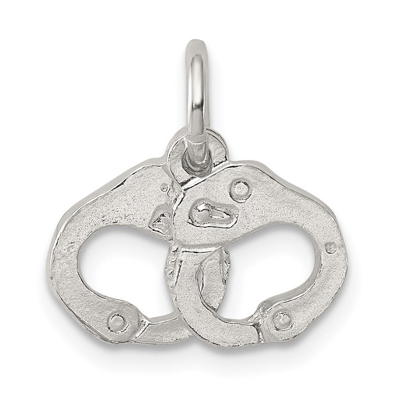 Quality Gold Sterling Silver Handcuffs Charm
