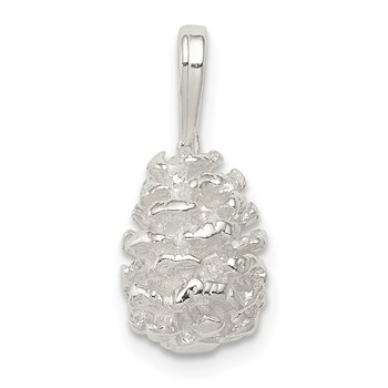 Sterling Silver Pinecone Charm