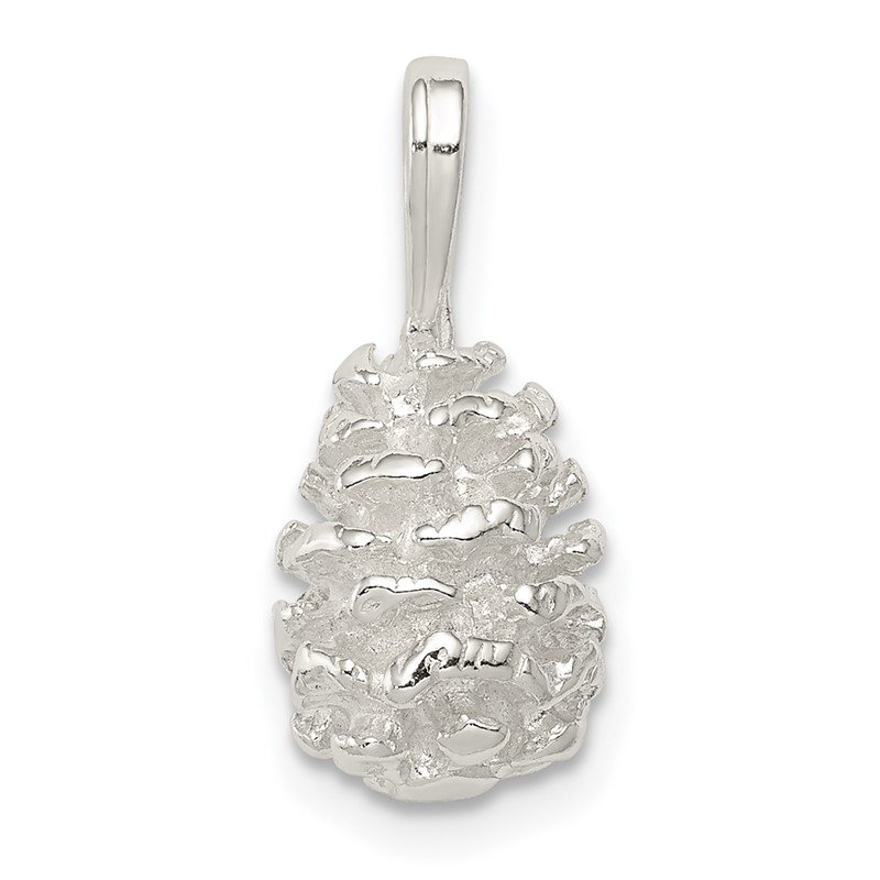 Quality Gold Sterling Silver Pinecone Charm