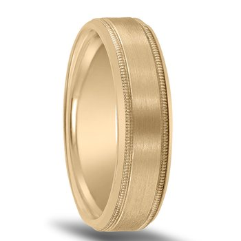 Men's Wedding Band N16698 with Milgrain and Bright Edges (by Novell)