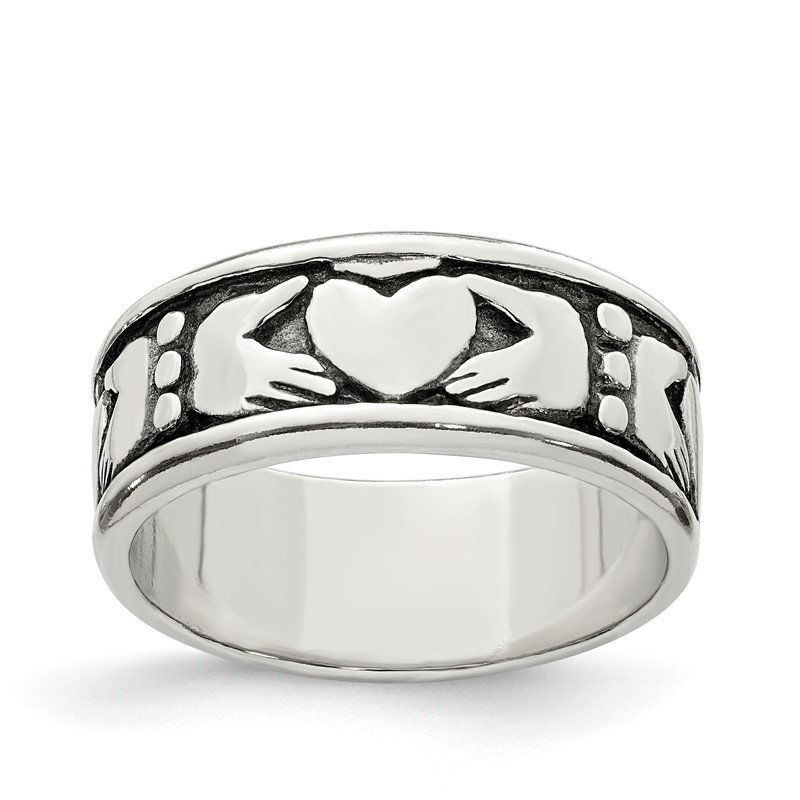 Quality Gold Sterling Silver Claddagh Design Ring