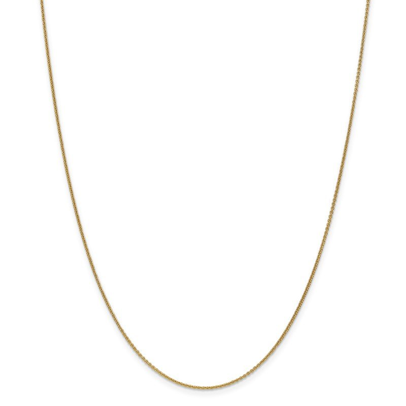 Quality Gold 14k 1mm Round Open Link Cable Chain