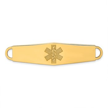 14k Non-enameled Medical Jewelry ID Plate