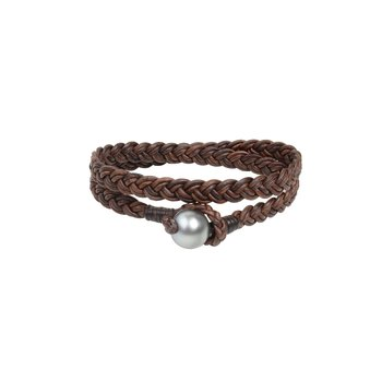 Double Wrap Flat Braid Bracelet