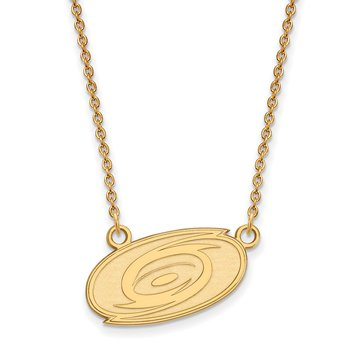 Gold-Plated Sterling Silver Carolina Hurricanes NHL Necklace