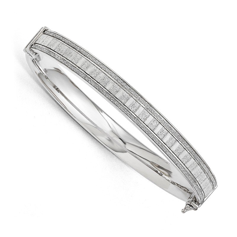 Leslie's Leslie's Sterling Silver Polished Glimmer Infused Bracelet