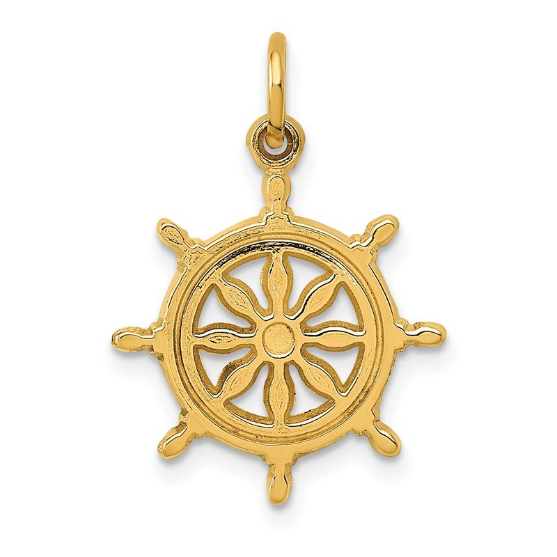 Quality Gold 14k Ships Wheel Charm