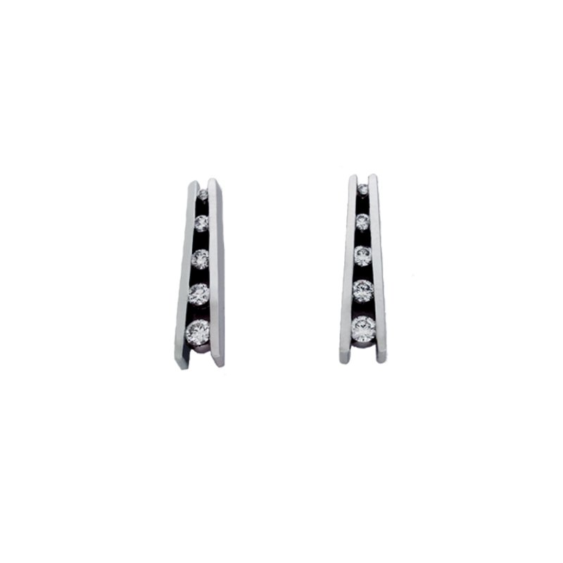S. Kashi  & Sons White Gold Journey Earring