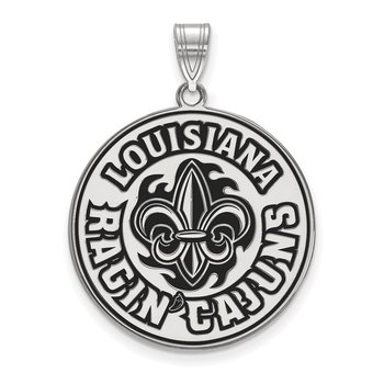 Sterling Silver University of Louisiana at Lafayette NCAA Pendant