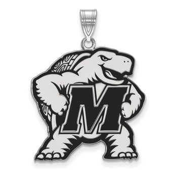 Sterling Silver University of Maryland NCAA Pendant
