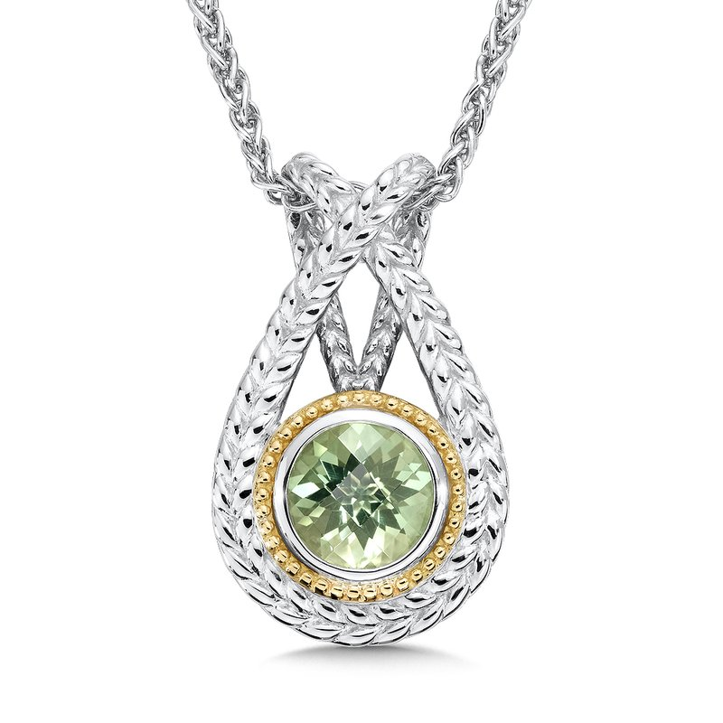 Colore Sg Sterling Silver Green Amethyst Pendant