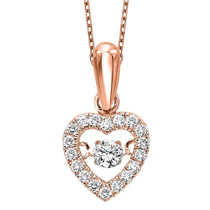 Rhythm of Love 10K Diamond Rhythm Of Love Pendant 1/5 ctw