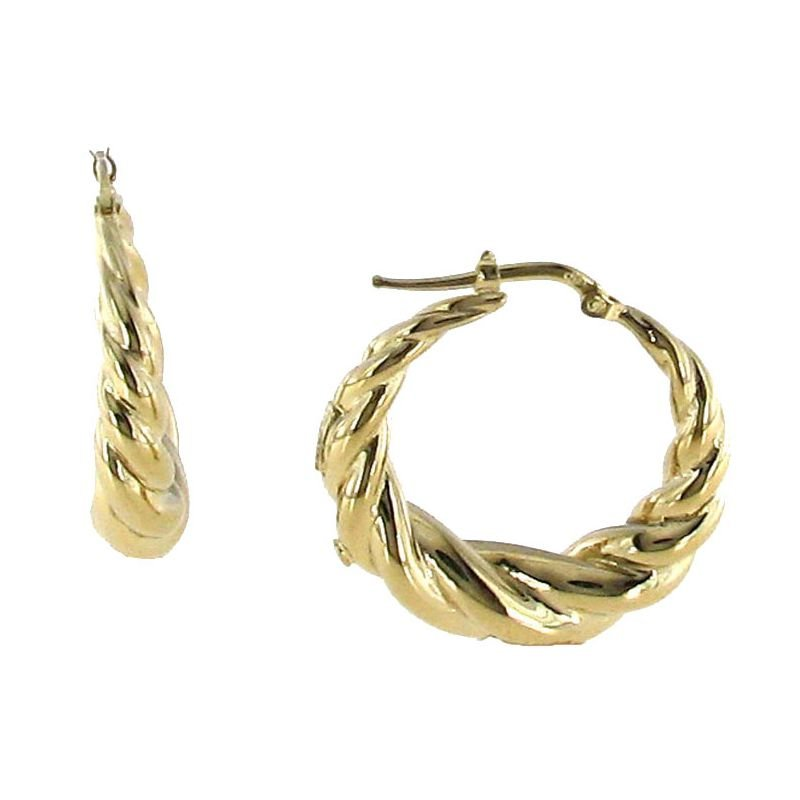 Roberto Coin 18KT GOLD TWISTED ROUND HOOPS