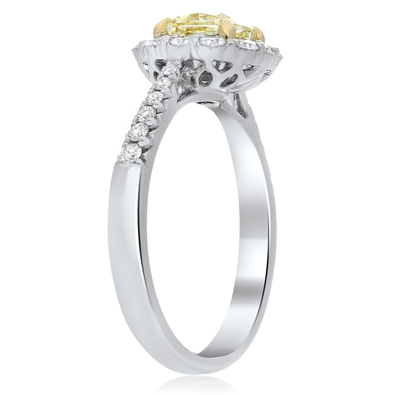 Roman & Jules Tapered Shank Two Tone Diamond Ring