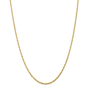 14k 2.25mm Extra-Light D/C Rope Chain