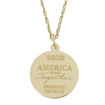 Covid-19 America We Are Together Necklace Set