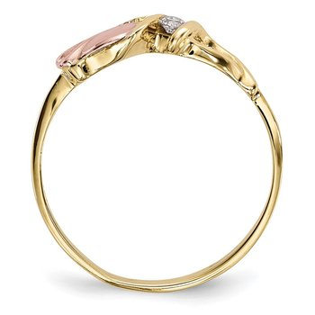 10k Tri-Color Black Hills Gold Diamond Ring
