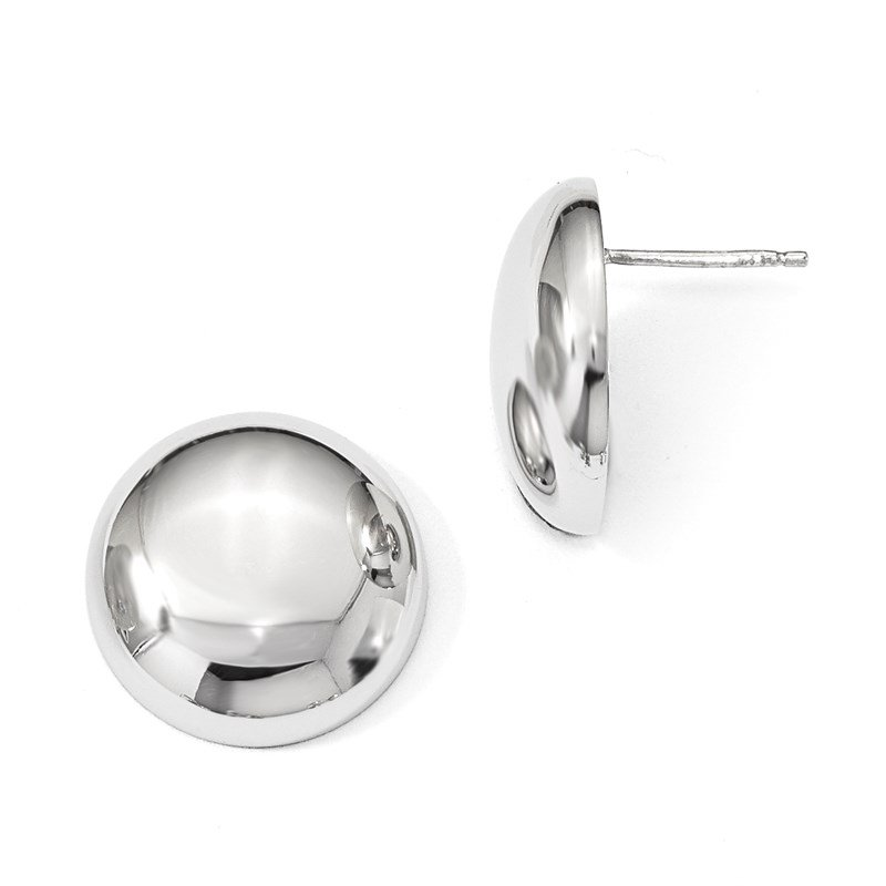 Leslie's Leslie's Sterling Silver Polished Button Post Earrings