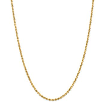 Leslie's 14K 2.75mm Solid Regular Rope Chain