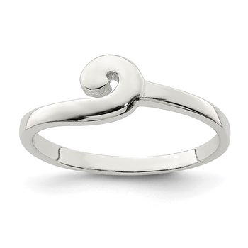 Sterling Silver Polished Swirl Ring