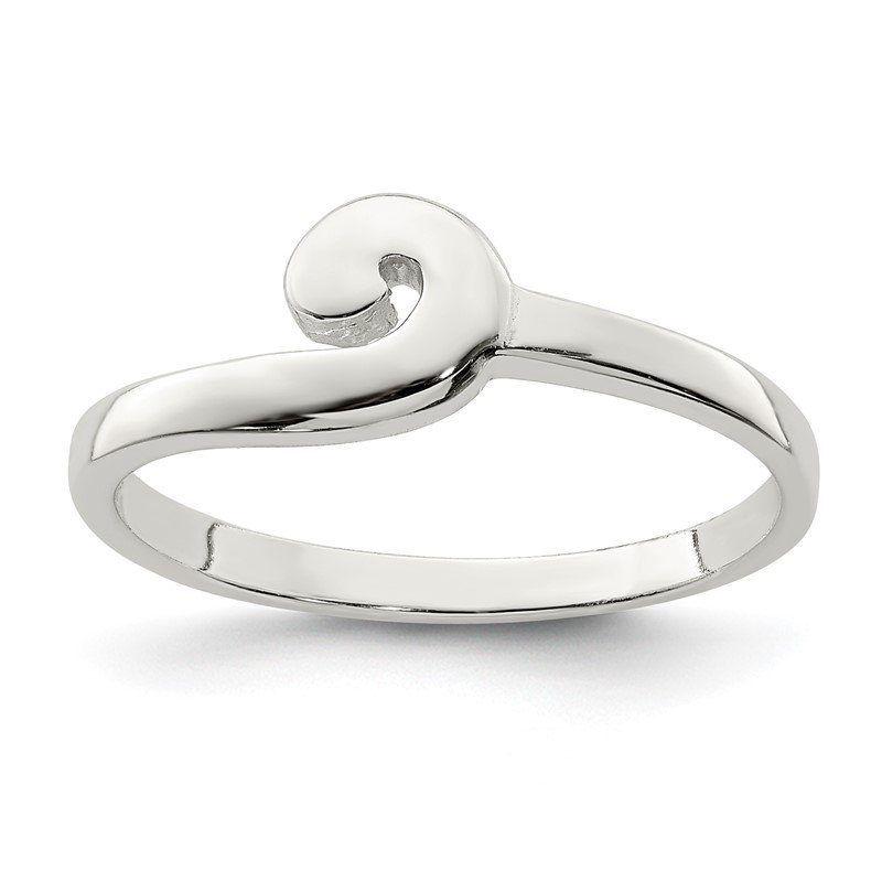 Quality Gold Sterling Silver Polished Swirl Ring