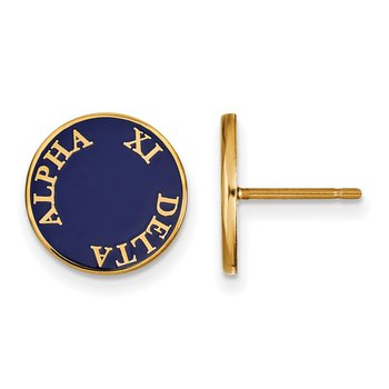Gold-Plated Sterling Silver Alpha Xi Delta Greek Life Earrings