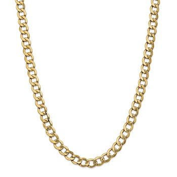 14k 9mm Semi-Solid Curb Chain