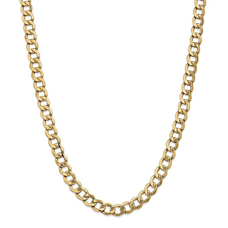 Quality Gold 14k 9mm Semi-Solid Curb Chain
