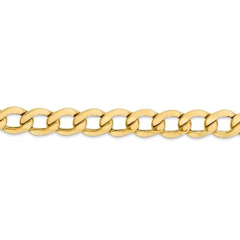 14k 8mm Semi-Solid Curb Chain