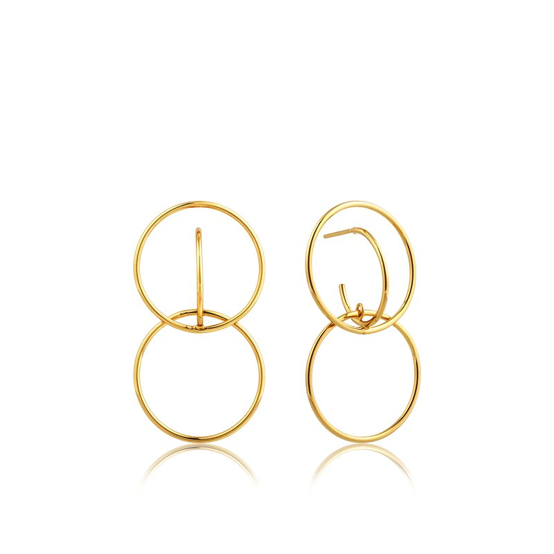 Ania Haie Double Circle Front Earrings
