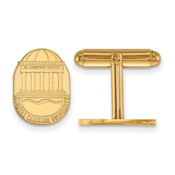 Gold Coastal Carolina University NCAA Cuff Links