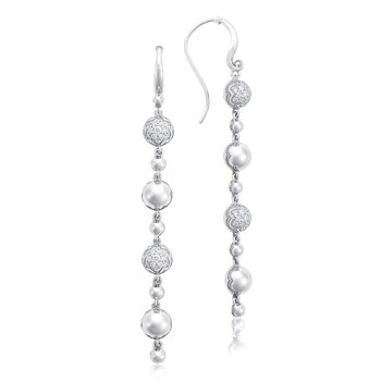 Pavé Dew Drop Line Earrings