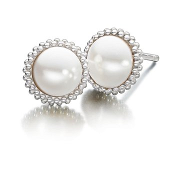 Creamrose Swarovski Pearl Earrings
