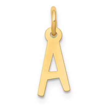 14k Small Slanted Block Letter A Initial Charm