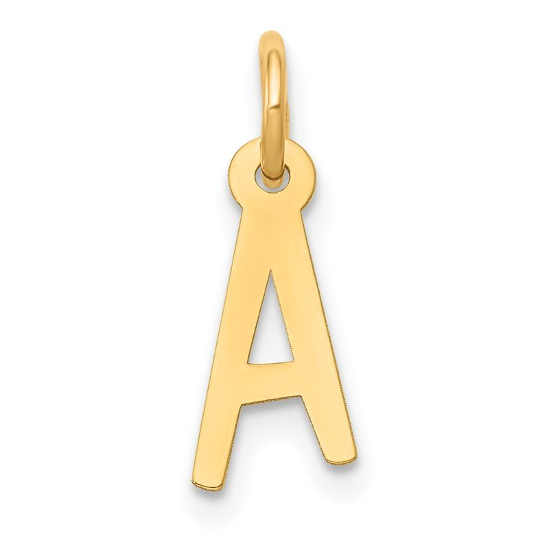 Quality Gold 14k Small Slanted Block Letter A Initial Charm