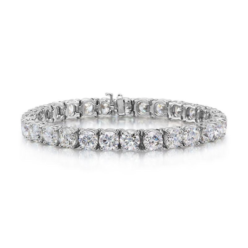7.28 tcw. Diamond Tennis Bracelet